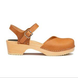Swedish Hasbeens Covered Low Clog Sandal size 41
